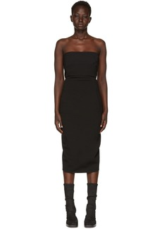 Rick Owens Black Grosgrain Bustier Dress