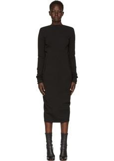 Rick Owens Black Grosgrain Maria Dress