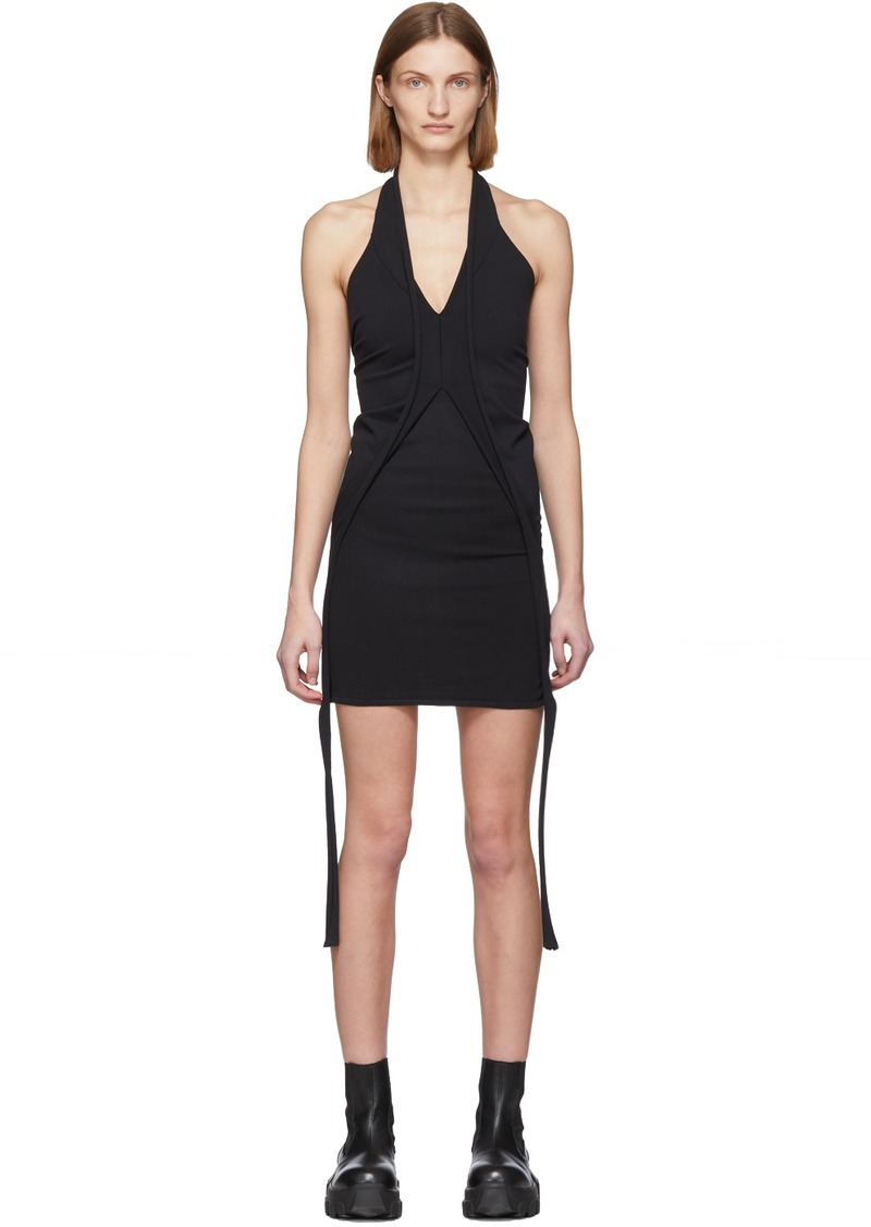Rick Owens Black Halter Mini Dress