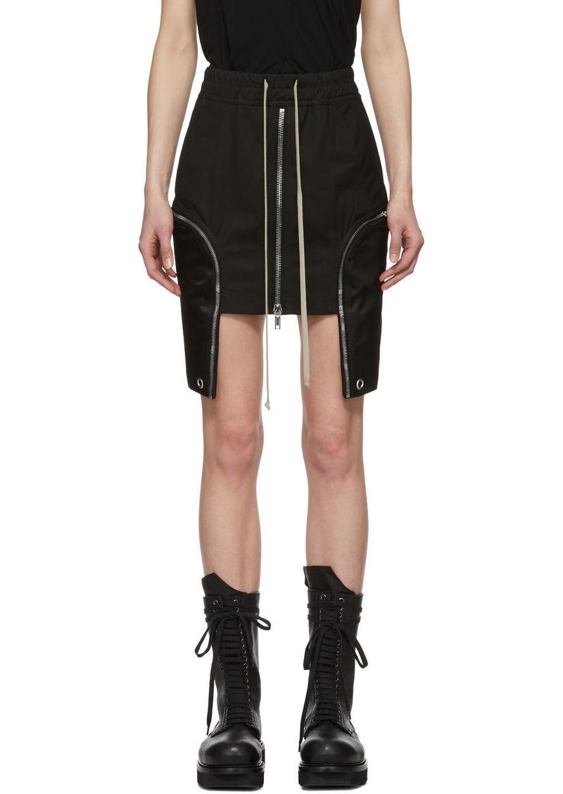 Rick Owens Black IES Miniskirt