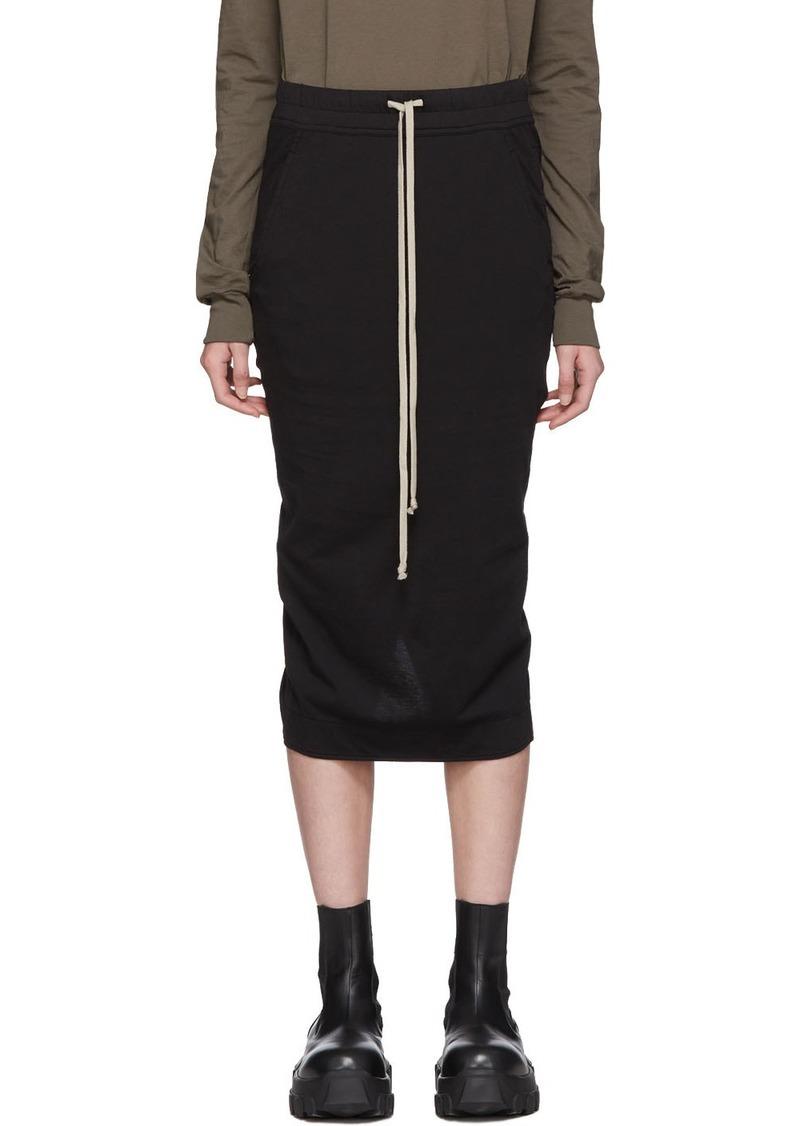 Rick Owens Black Jersey Soft Pillar Skirt