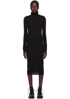 Rick Owens Black Jersey Turtleneck Dress