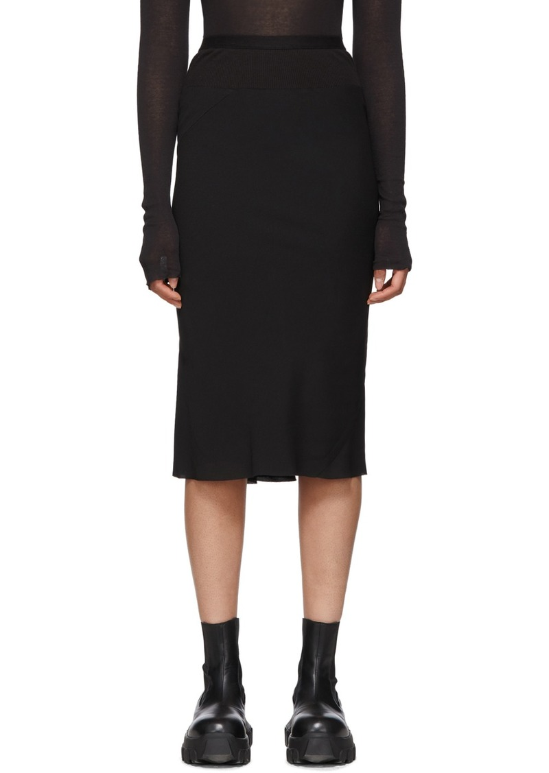 Rick Owens Black Knee Length Skirt