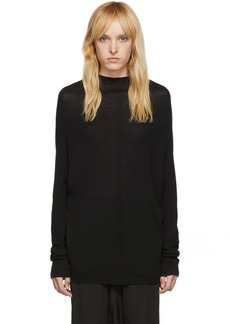 Rick Owens Black Knit Crater Sweater