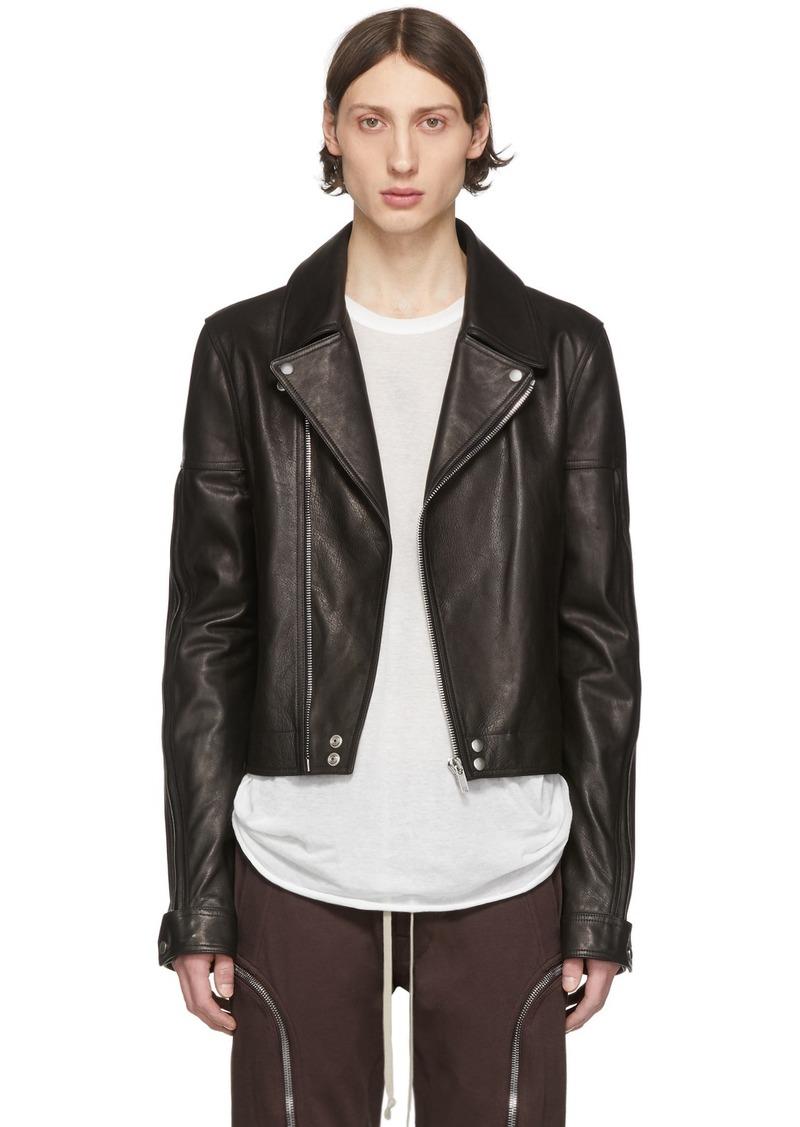 Rick Owens Black Leather Dracubiker Jacket