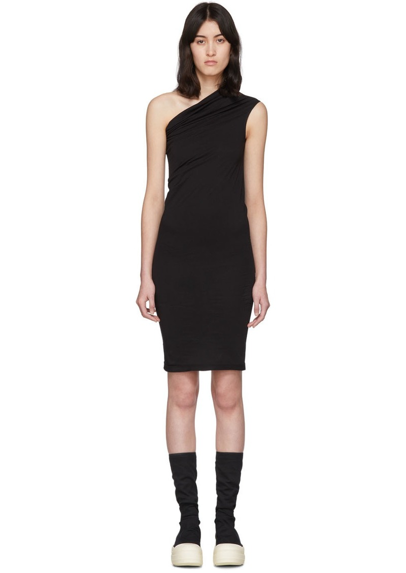 Rick Owens Black One Shoulder Tunic Dress