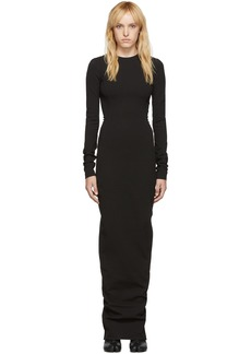 Rick Owens Black Sade Dress