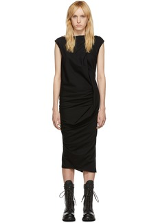 Rick Owens Black Sash Neck Dress