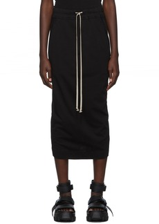 Rick Owens Black Short Soft Pillar Skirt
