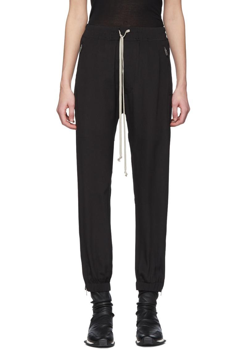 Rick Owens Black Silk Crêpe Lounge Pants