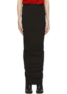 Rick Owens Black Soft Pillar Skirt