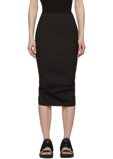 Rick Owens Black Soft Pillar Skirt
