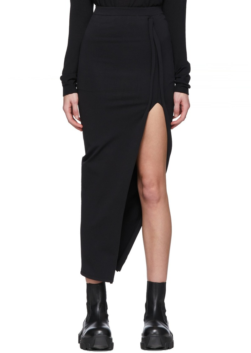 Rick Owens Black Stem Skirt