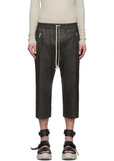 Rick Owens Black Tecuatl Cropped Drawstring Trousers