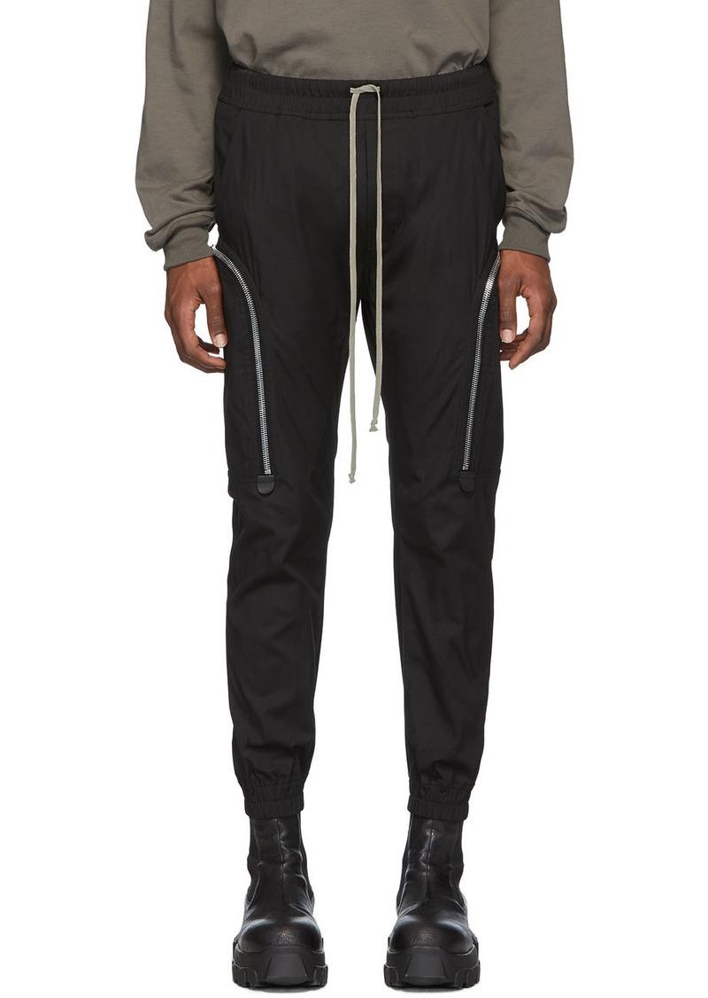 Rick Owens Black Tecuatl Jog Cargo Pants