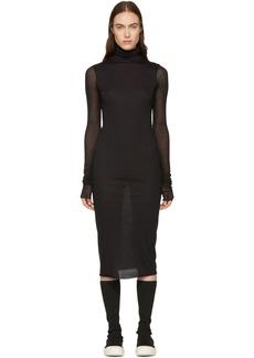 Rick Owens Black Turtleneck Dress