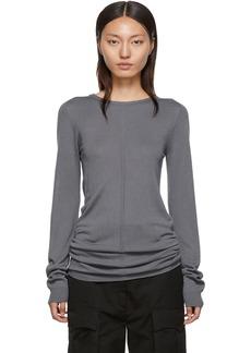 Rick Owens Blue Rasato Sweater