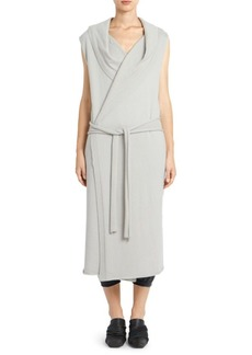 Rick Owens Boiled Cashmere Long Hooded Robe