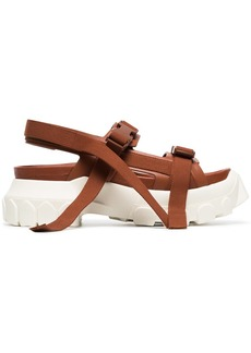 Rick Owens brown sisyphus leather hiking sandals