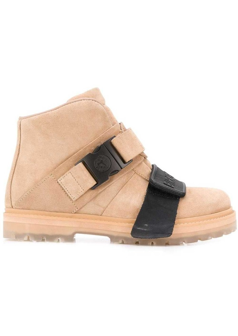 Rick Owens buckle detail boots