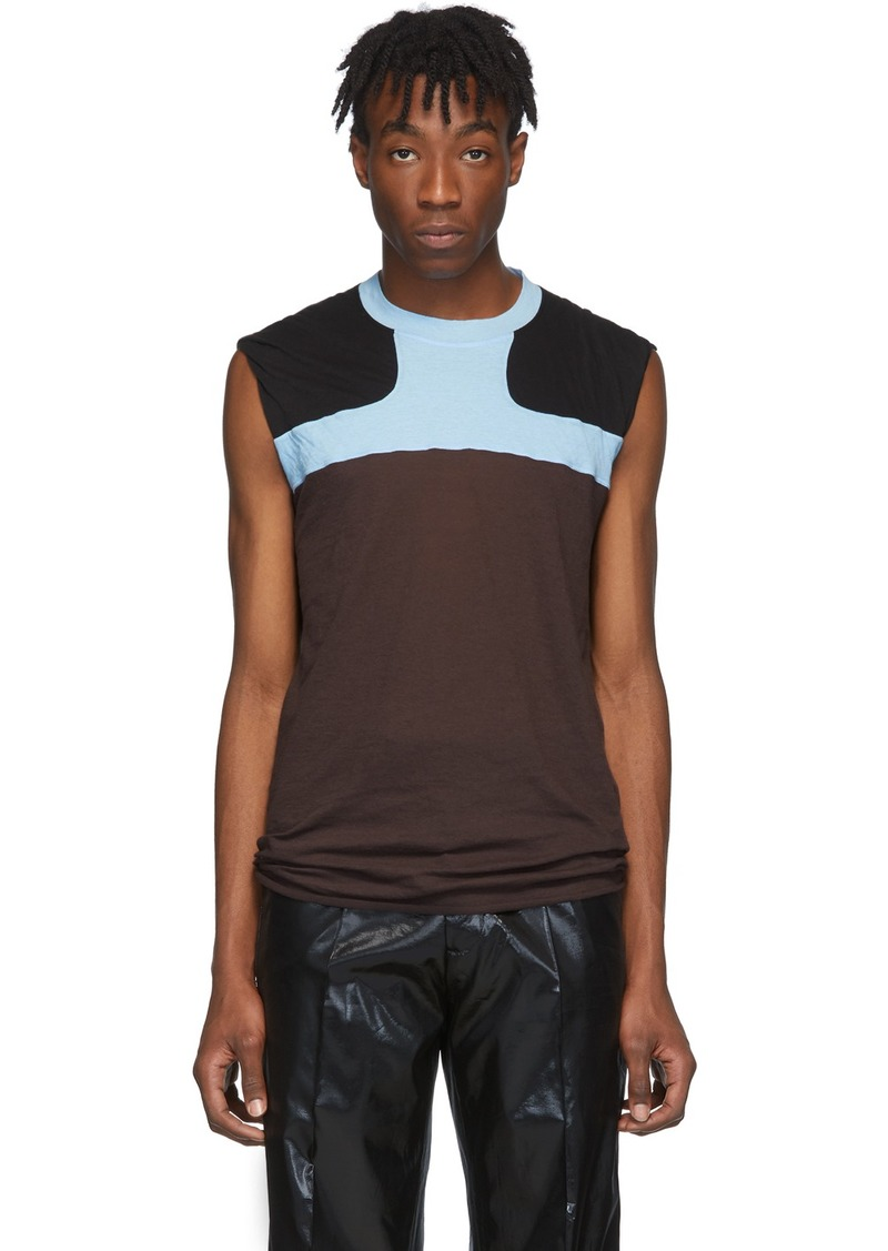 Rick Owens Burgundy & Blue Release Combo Lupetto Tank Top