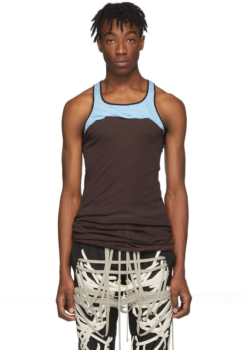 Rick Owens Burgundy & Blue Release Combo Tank Top