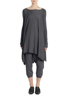 Rick Owens Cashmere Convertible Poncho Top