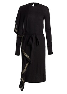 Rick Owens Chain-Trim Knit Midi Dress