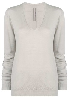 Rick Owens classic v-neck knit sweater