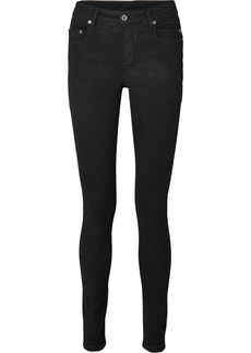 Rick Owens Coated High-rise Skinny Jeans