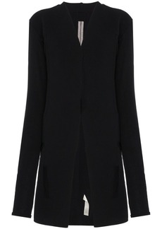 Rick Owens Collarless knitted jacket
