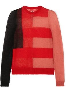 Rick Owens Color-block Mohair-blend Sweater