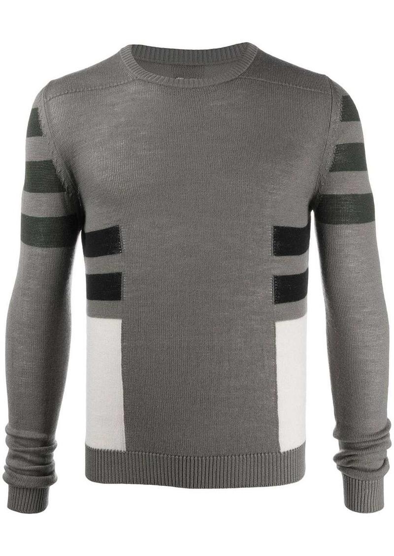 Rick Owens colour-block jumper