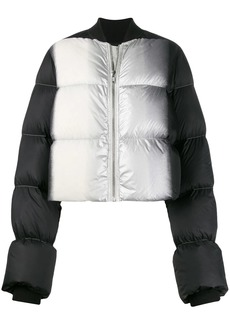 Rick Owens colour block puffer jacket