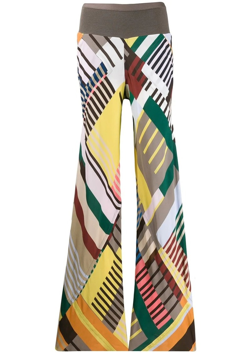 Rick Owens colour blocked palazzo trousers