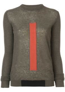 Rick Owens colourblock graphic sweater