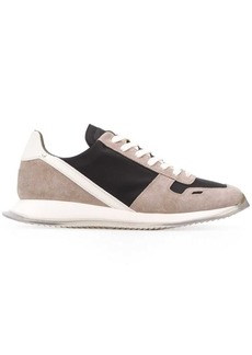 Rick Owens colourblock low top sneakers