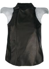 Rick Owens contrast panel shortsleeved jacket