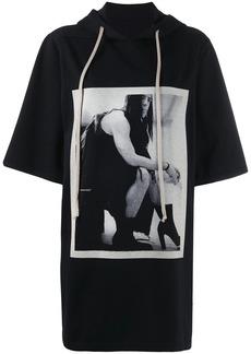 Rick Owens contrast print T-shirt