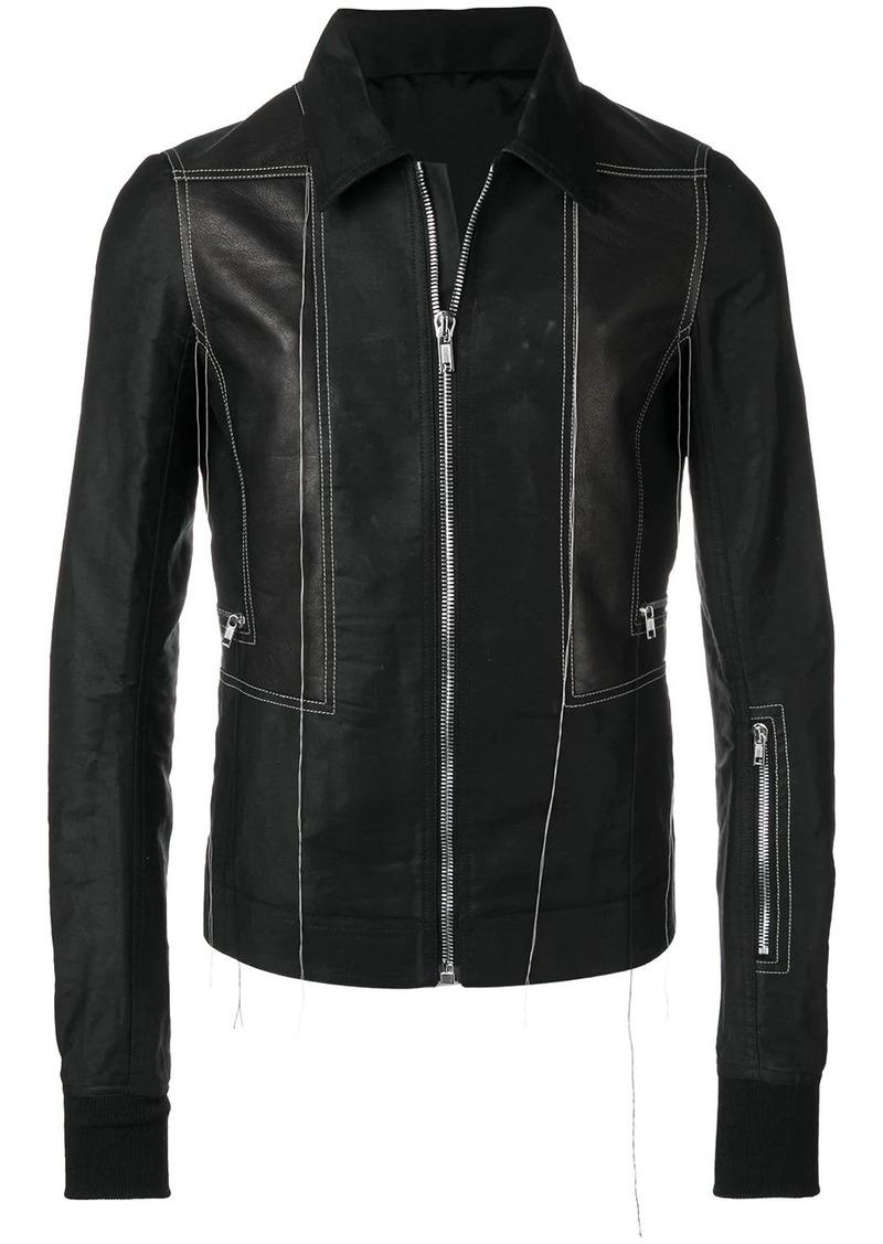 Rick Owens contrast stitch jacket
