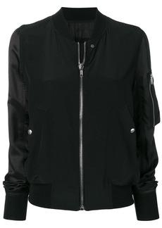 Rick Owens contrasting sleeve bomber jacket