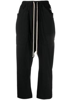 Rick Owens cotton drop-crotch trousers