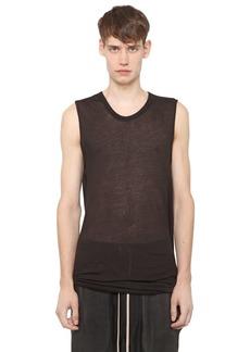 Rick Owens Cotton Jersey Sleeveless T-shirt