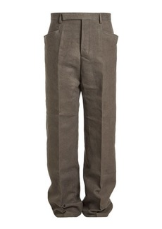 Rick Owens Cotton Pants with Silk