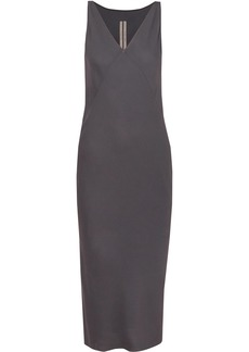 Rick Owens Crepe De Chine Midi Dress