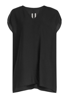 Rick Owens Crepe Top with Ladder Detail