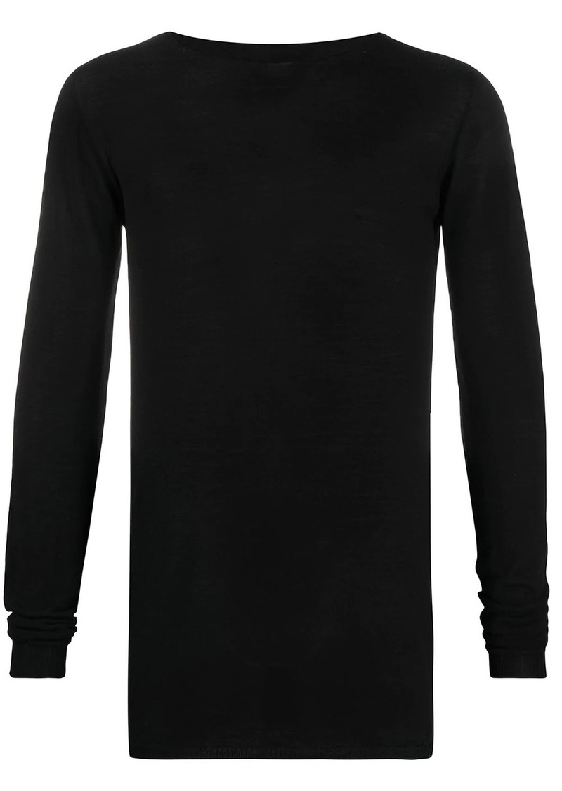Rick Owens crew neck knitted top