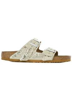 Rick Owens crinkle effect metallic-tone sandals