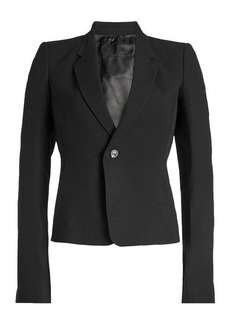 Rick Owens Cropped Blazer with Wool