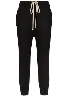 Rick Owens cropped cashmere joggers